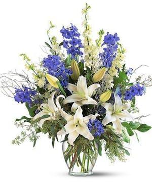 Delphinium, Larkspur and Lilies